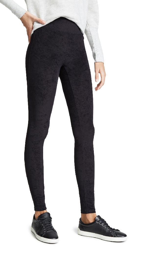 a72742f443fa7 James Perse High Waist Velvet Leggings In Black | ModeSens