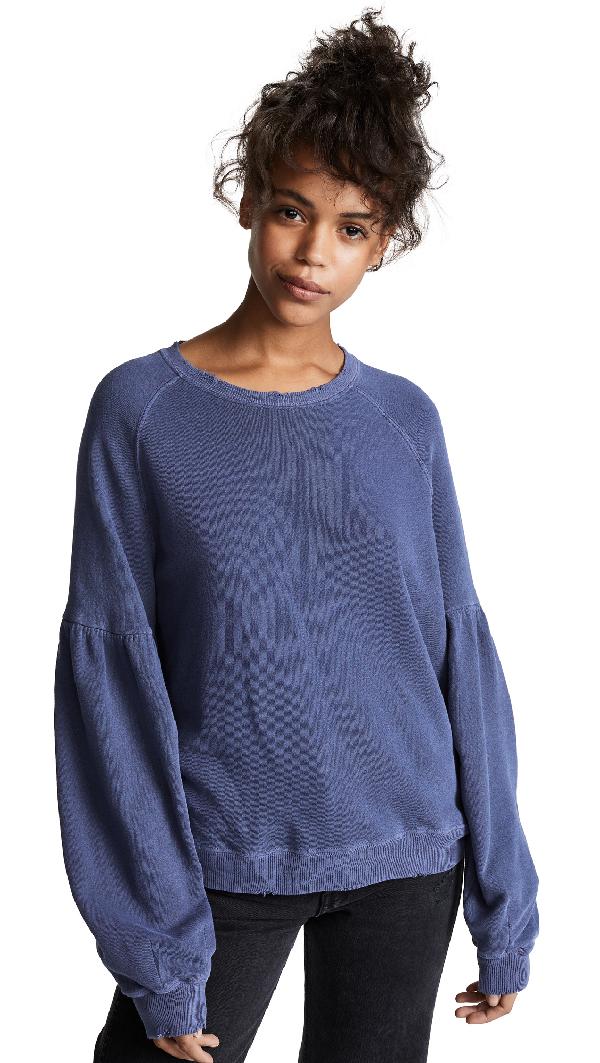 d003280546c The Great The Bishop Sleeve Sweatshirt In Mottled Blue
