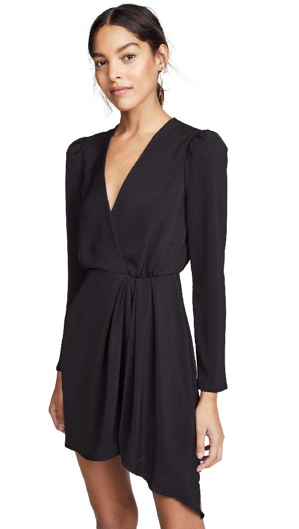 9e9aa9c4318b Wayf Banks Plunging Mini Dress In Black | ModeSens