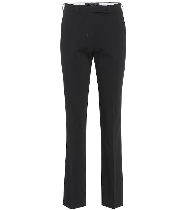 Etro Cropped Mid-rise Straight Pants In Black