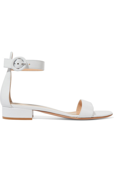 baade60e679 Gianvito Rossi - Gianvito Rossi created these sandals as a manageable  iteration of its cult Portofino stilettos. Crafted in Italy from smooth  leather