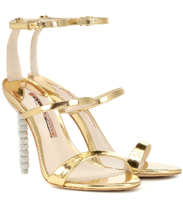 b0c826fb1 Sophia Webster Rosalind Crystal-Embellished Leather Sandals In Gold ...