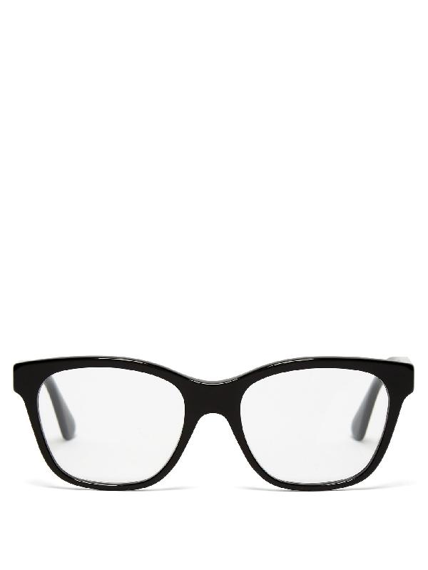Gucci Crystal-embellished Square-frame Glasses In Black
