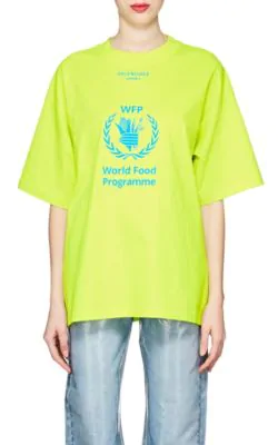 10ed906c62984c ... Embroidered Cotton-Twill Baseball Cap in 1077 Blk/Wh. Balenciaga + The World  Food Programme Oversized Logo-Print Cotton-Jersey T-Shirt