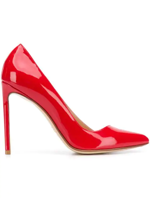 Francesco Russo Patent Pumps In Red