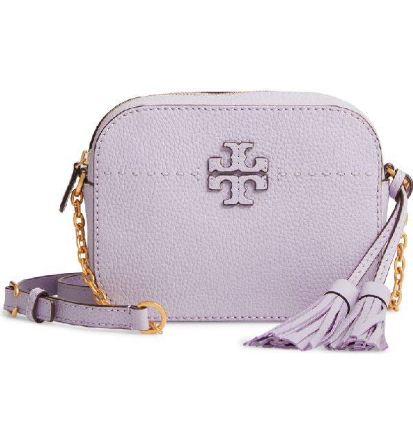 10bb74467fd9 Tory Burch Mcgraw Leather Camera Bag - Purple In Pale Violet