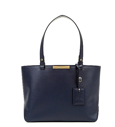 Le Foulonne City Small Tote Bag In Navy