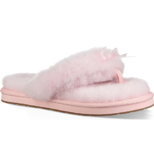 b8c0a7d2a4f Women's Fluff Sheepskin Flip-Flops in Pink