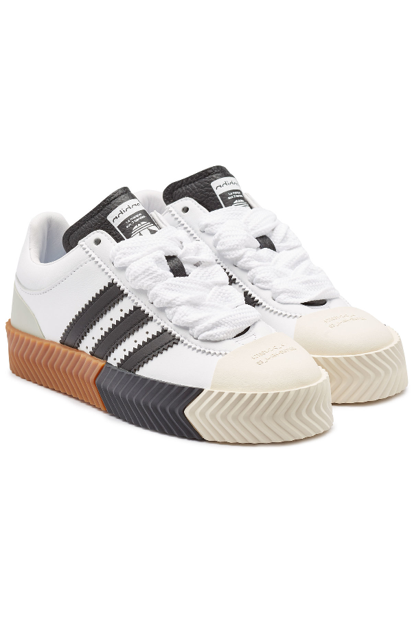 Aw Skate Super Leather Sneakers In White