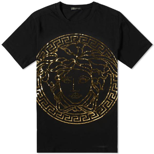 5e3e6e21e6d9 Versace Printed Large Medusa Head Tee In Black | ModeSens