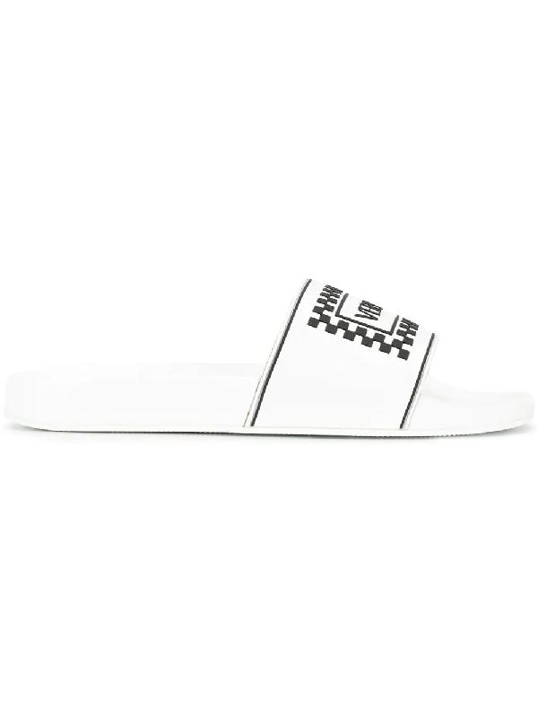 7977e4e37 Versace 90S Vintage Logo Slides In White