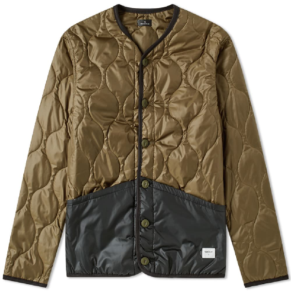 Vanquish Denim By  & Fragment Liner Down Jacket In Green