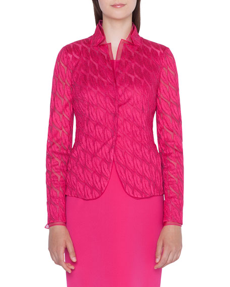 Akris Lips Embroidered Jacket In Pink
