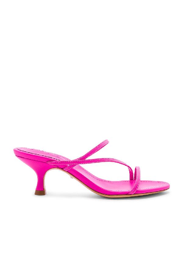 1b08936b46fb Schutz Women s Evenise Kitten Heel Sandals In Neon Pink