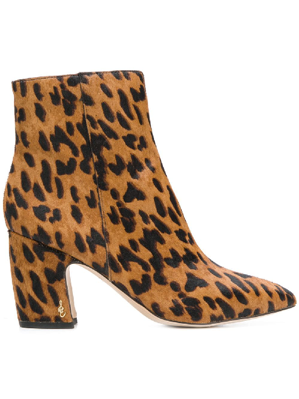 86204edf2 Sam Edelman Women s Hilty Leopard Print Calf Hair Booties In Leopard ...