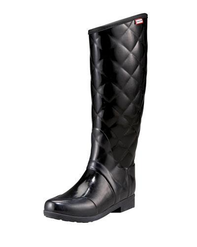 Hunter Sandhurst Savoy Riding Boot In Black