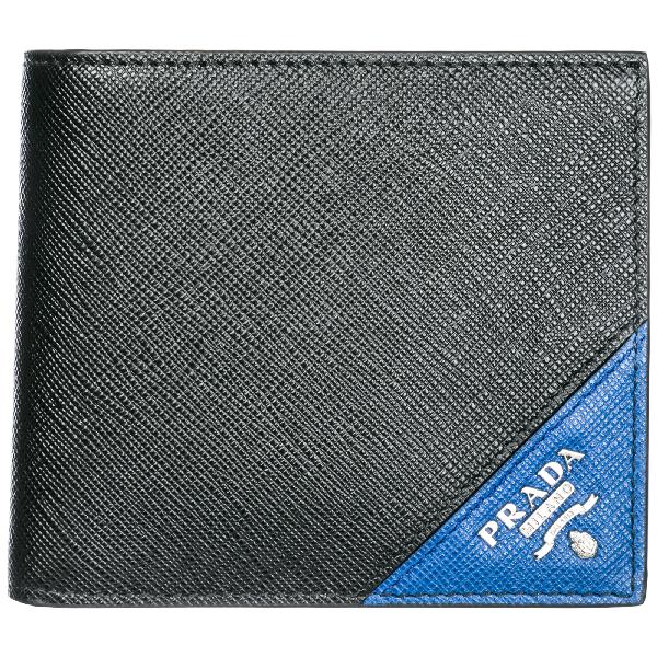 22351a97b524 Prada Men's Wallet Genuine Leather Coin Case Holder Purse Card Bifold In  Black