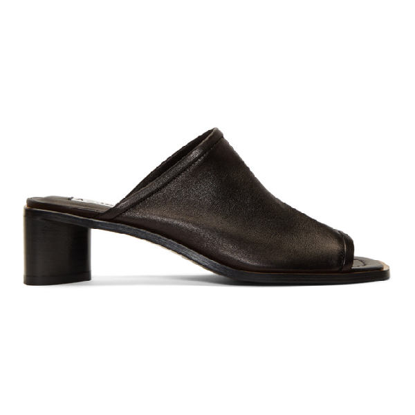 4bc392b4c1a06 Acne Studios Bernelle Leather Mules In Black/Blk | ModeSens