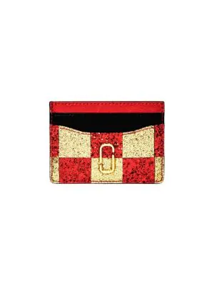 Marc Jacobs The Snapshot Checkerboard Card Case In Multi