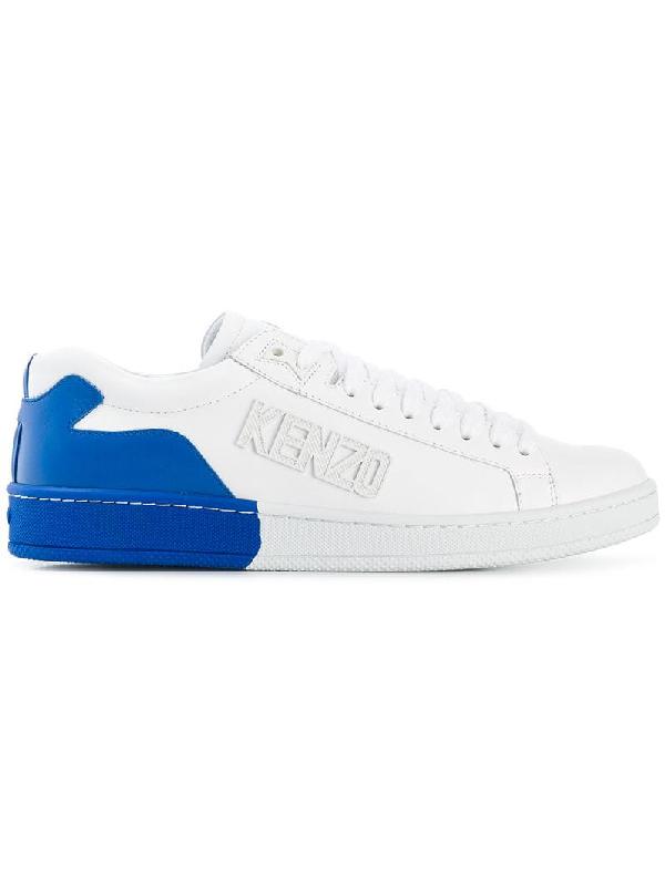 ae8eabc077 Kenzo Men's Tennix Two-Tone Leather Sneakers In White   ModeSens