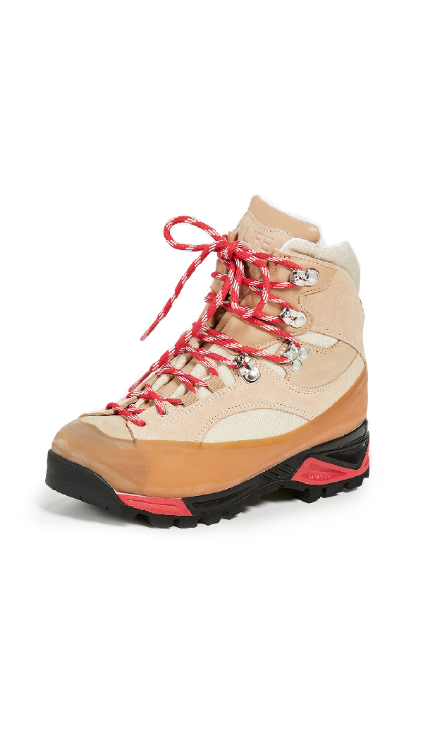 ae2d27e7e78 Ganni Sarai High-Top Suede Hiking Boots In Hazelnut   ModeSens
