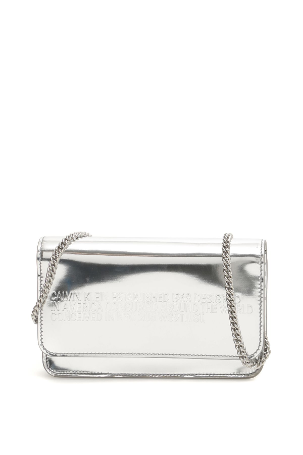 Calvin Klein Mini Crossbody Bag In Silver (Metallic)