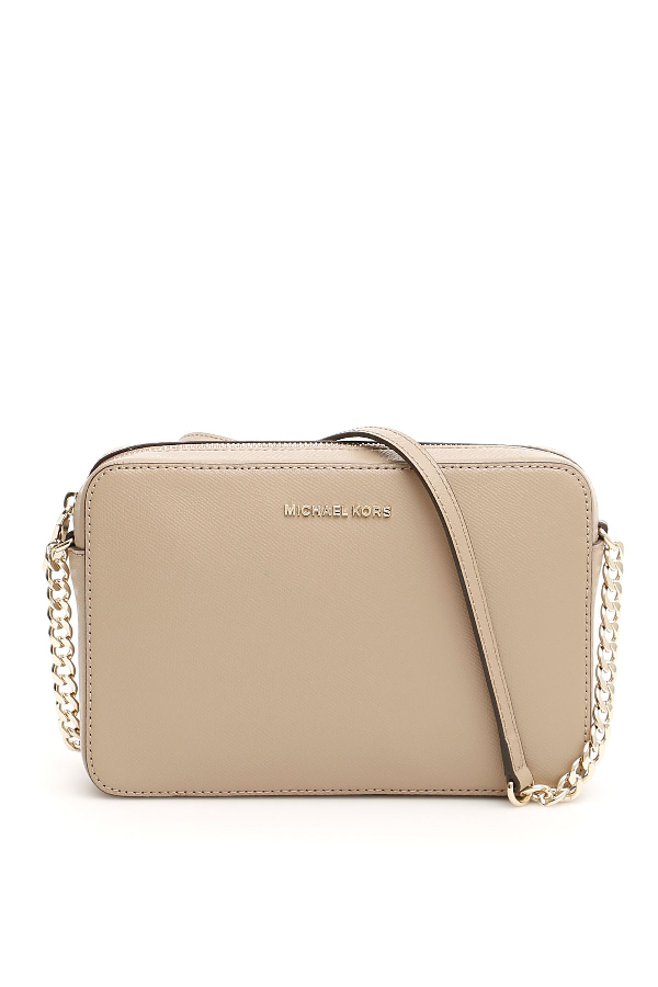 d28ec53b543b Michael Michael Kors Jet Set Travel Crossbody Bag In Truffle|Bianco ...