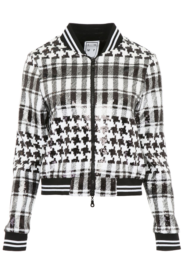 Mood Bomber Jackets: In The Mood For Love Sequins Jenna Bomber Jacket In
