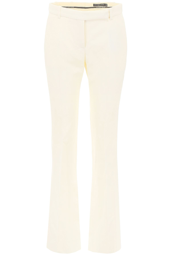 Alexander Mcqueen Bootcut Trousers In Ivory (White)