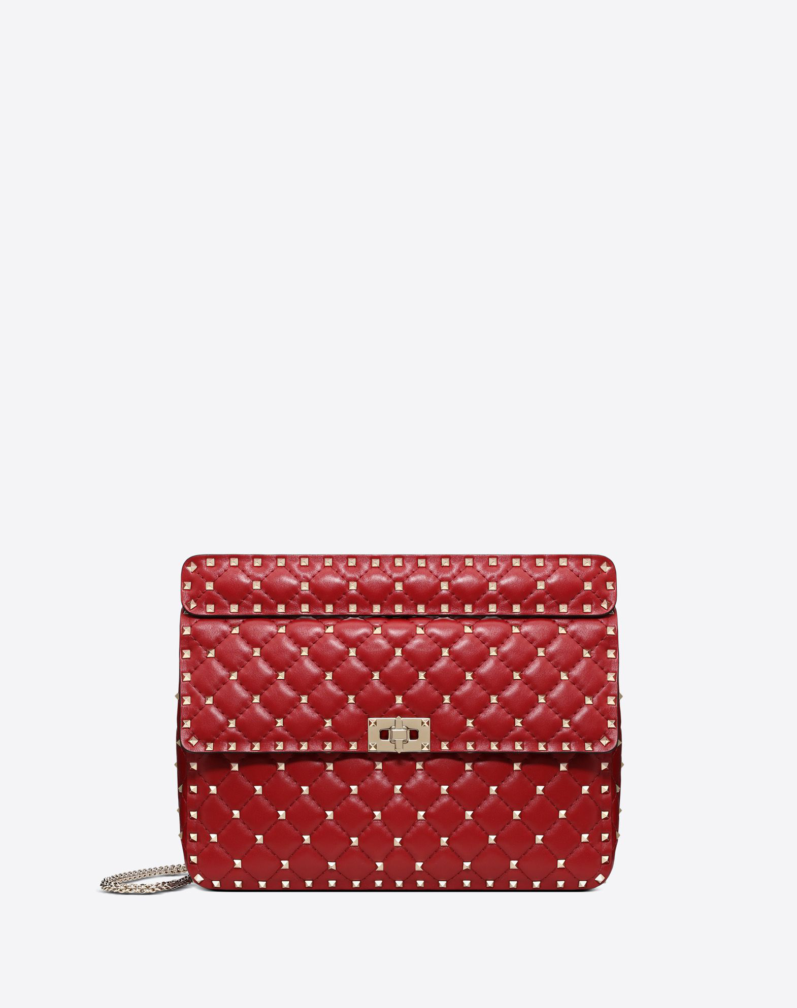 91e43ef2b43 Valentino Free Rockstud Spike Medium Chain Bag In Red