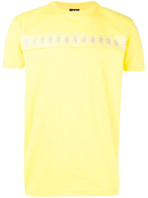 Kappa T-shirt With Light-reflecting Logo In Yellow