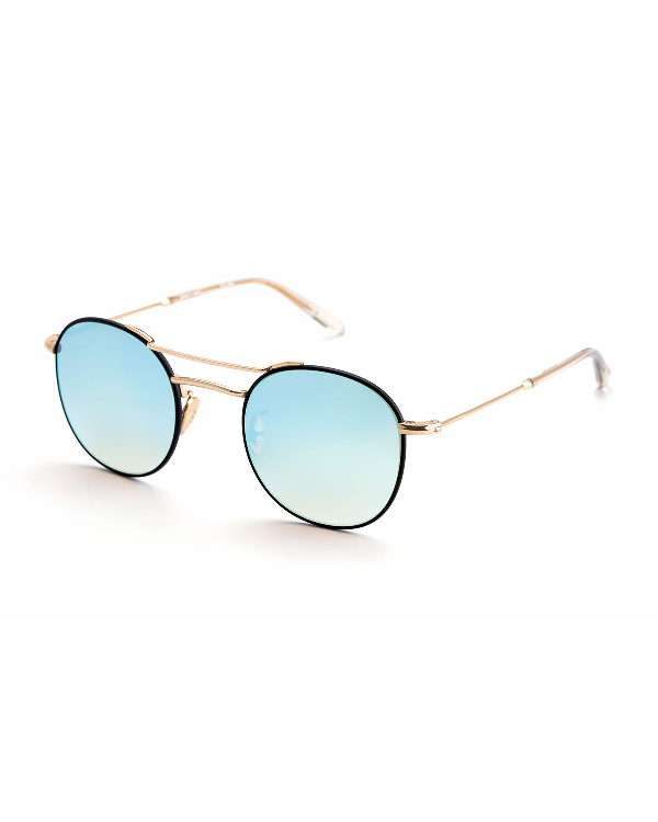 e0c8c25614adb Krewe Orleans Round Mirrored Sunglasses In Black Crystal
