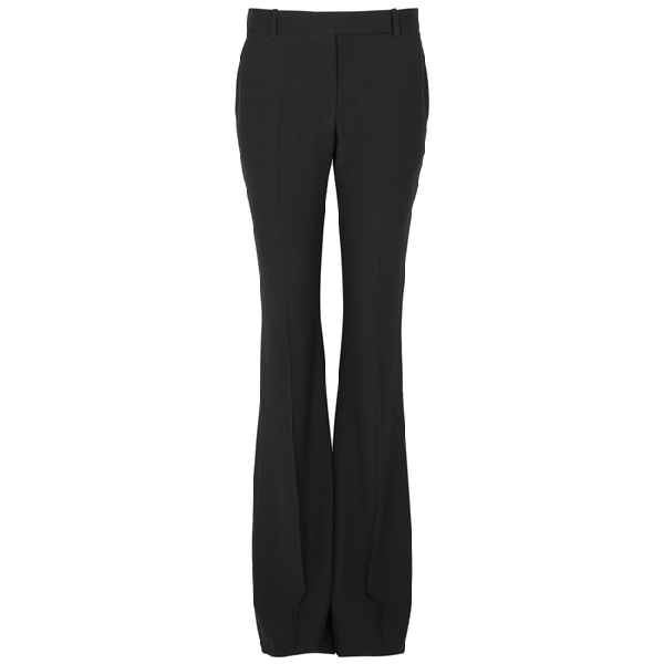 Alexander Mcqueen Black Bootcut Trousers