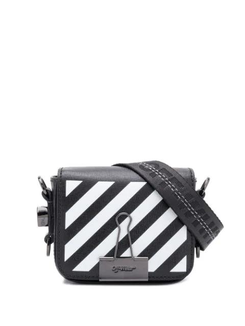 0660173a56b2e2 Off-White Diagonal Stripe Binder Clip Crossbody Bag In Black | ModeSens