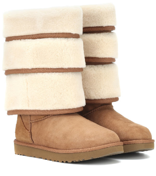 Y/project Y / Project Ugg Layered Sheepskin Boots - Brown
