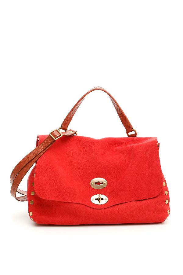 Zanellato Jones Postina M Bag In Brown,red