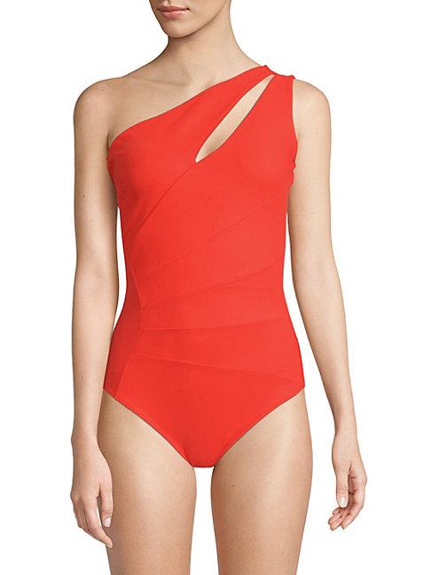 Chiara Boni La Petite Robe Ani One-shoulder One-piece Swimsuit In Red