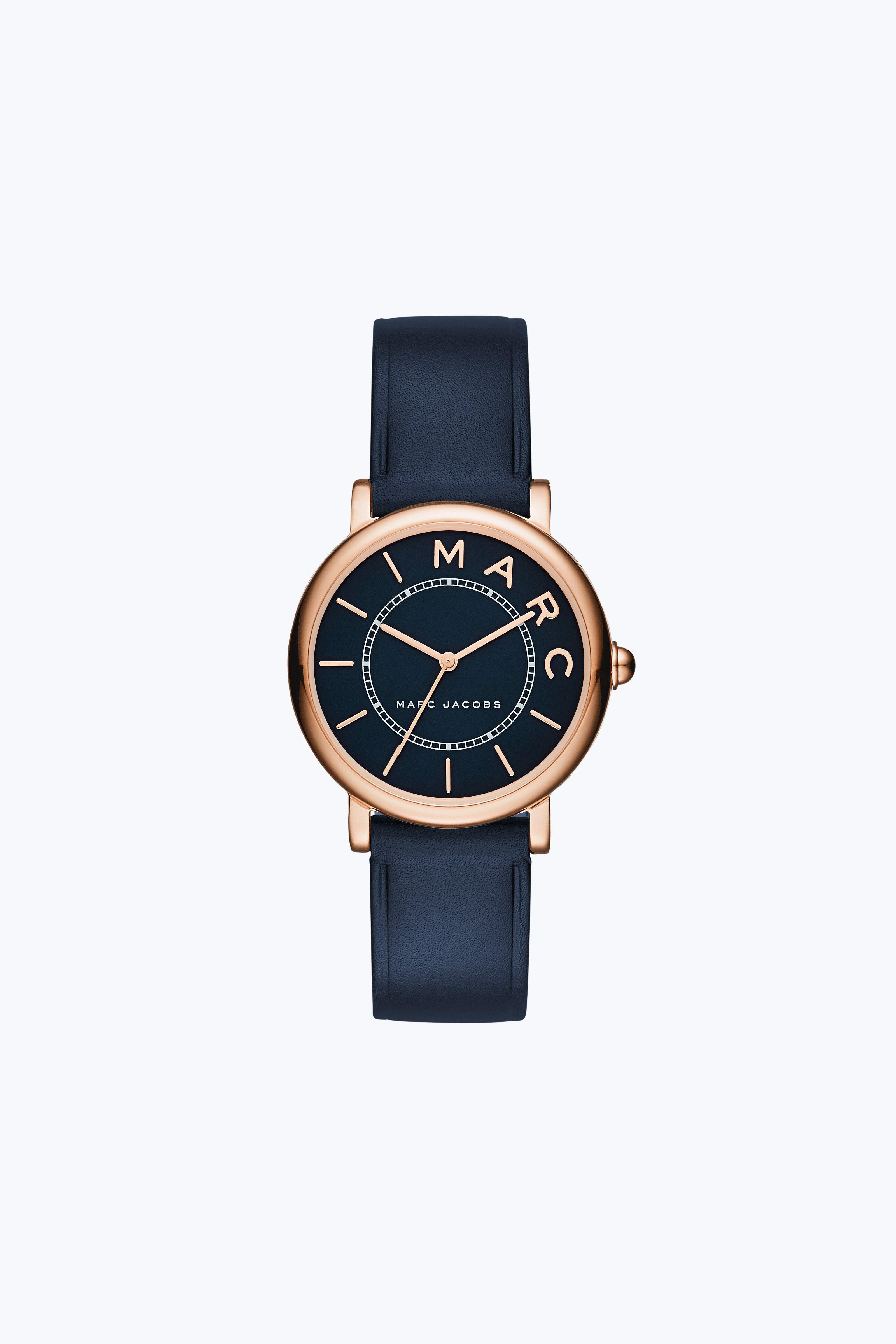 Marc Jacobs The  Classic Watch 28Mm In Rose Gold/Navy