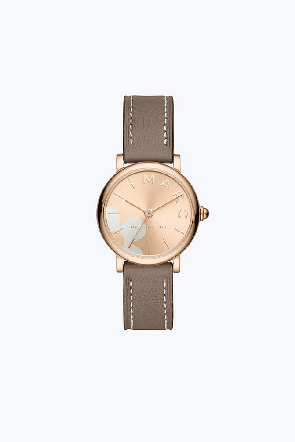 Marc Jacobs The  Classic Watch 28Mm In Rose Gold/Cement