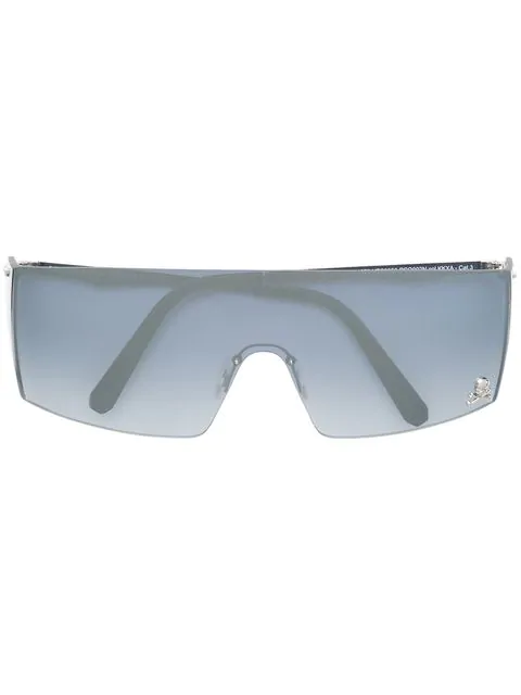 Philipp Plein Gradient Lens Square Frame Sunglasses In Silver