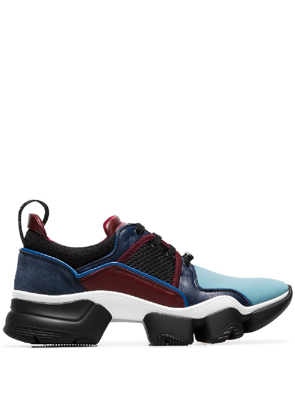 Givenchy Jaw Neoprene, Suede, Leather And Mesh Sneakers In Blue