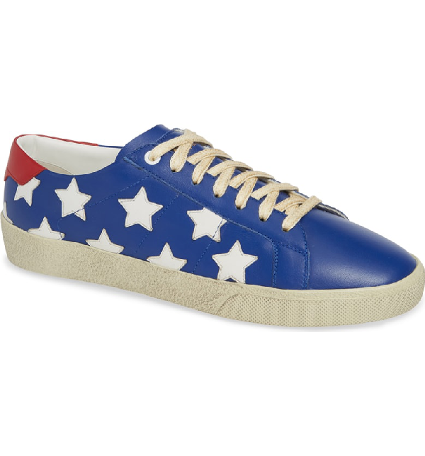 0fca703eb934 Saint Laurent Star Low-Top Sneaker In Blue  Multi