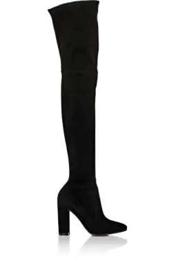 Gianvito Rossi Thurlow Cuissard Knit Over-The-Knee 105Mm Boot, Black