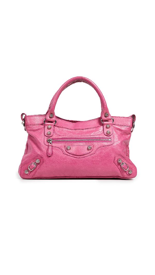 Balenciaga Giant City Bag In Pink