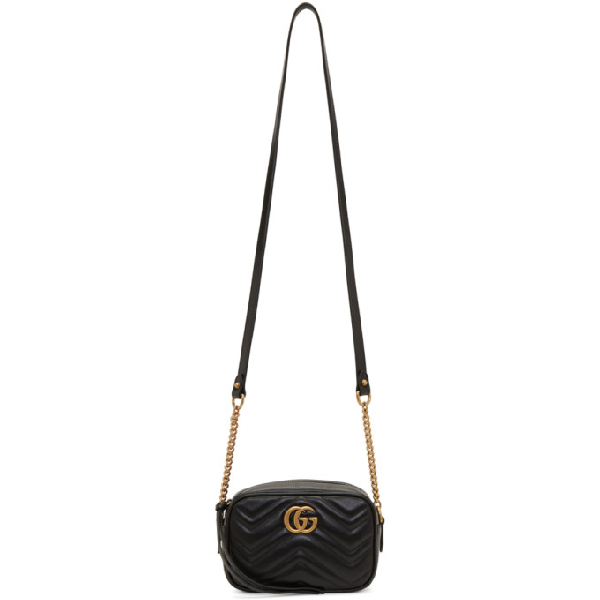 ff0c679308ab77 Gucci Mini Gg Marmont 2.0 Leather Camera Bag In Black | ModeSens