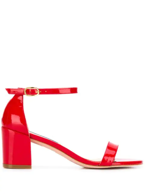 Stuart Weitzman 55mm Simple Patent Leather Sandals In Red