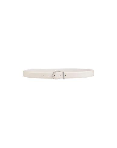 Maison Margiela Leather Belt In Ivory