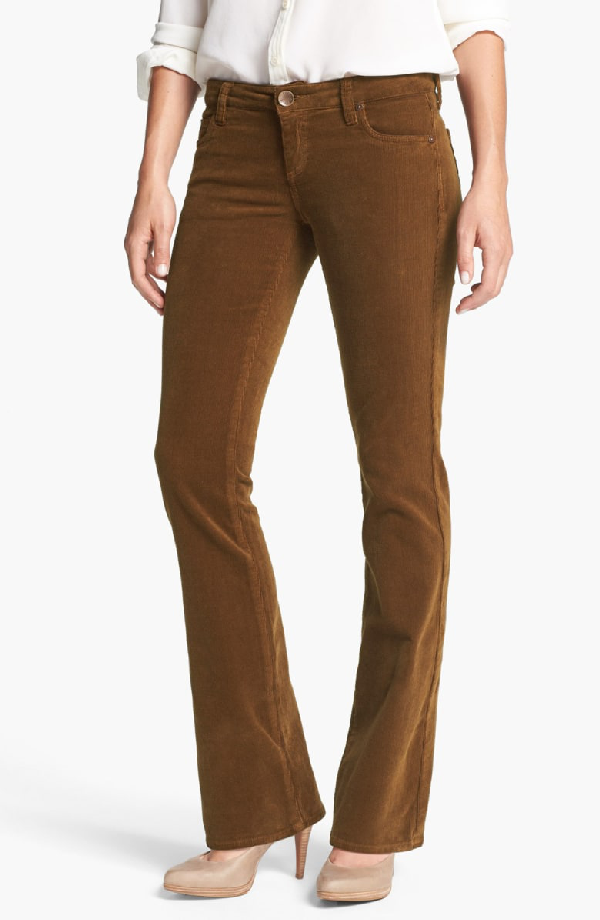 5140f98717a Kut From The Kloth Baby Bootcut Corduroy Jeans In Cognac   ModeSens