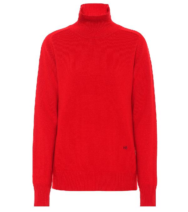 Victoria Beckham Stretch Cashmere Turtleneck Sweater In