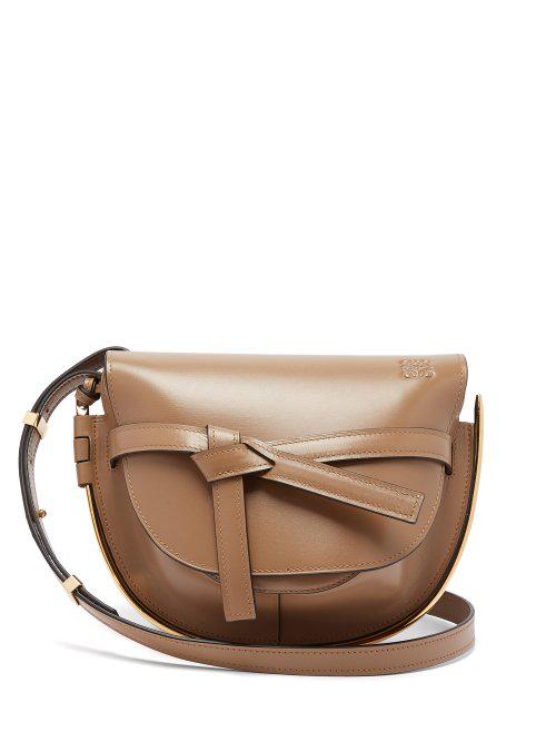 364887f31 Loewe - Gate Small Leather Cross Body Bag - Womens - Beige | ModeSens
